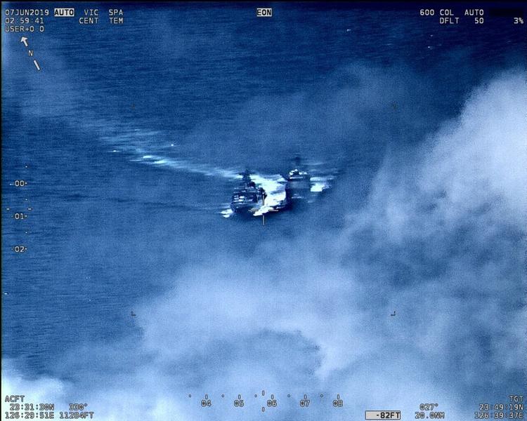 驚險一刻:美軍艦躲過俄軍艦撞擊 美譴責