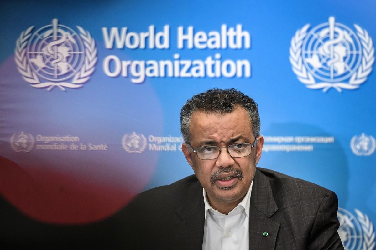 世界衛生組織負責人譚德塞(Tedros Adhanom Ghebreyesus)。攝於2020年1月30日。(Fabrice COFFRINI/AFP)