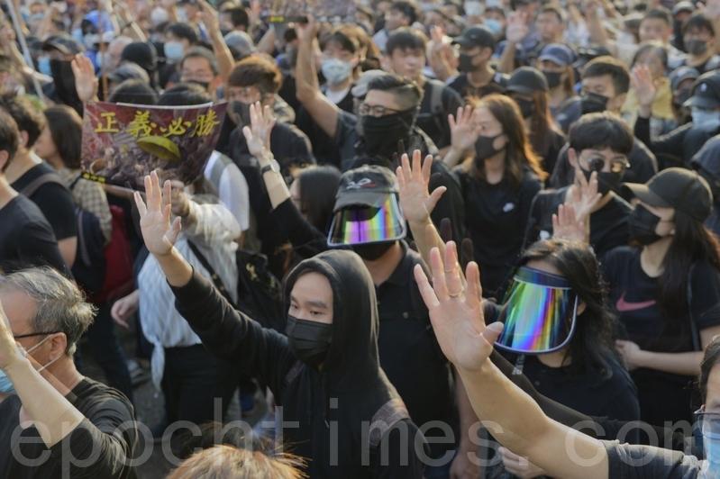 2019年12月1日,香港38萬人參加「毋忘初心大遊行」。(余天祐/大紀元)