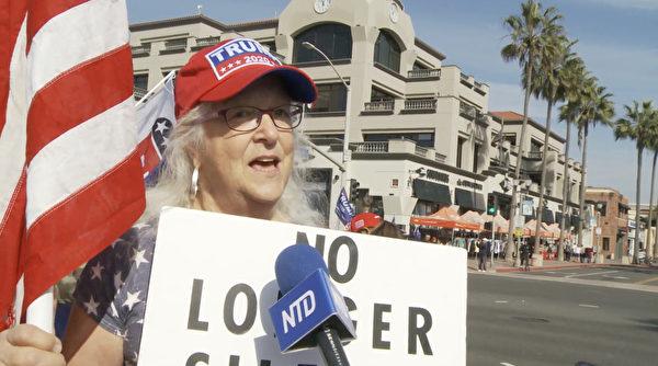 曾經長期支持民主黨的71歲選民蓋洛普(Anita Gallup)說,美國不需要共產主義,愛國者需要站出來與左派勢力做鬥爭,才能捍衛美國的自由。(新唐人電視台)