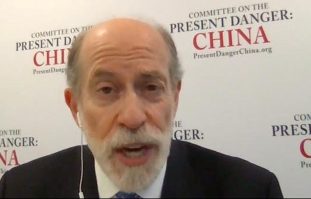 美國「應對中共當前危險委員會」(Committee on the Present Danger:China,CPDC)副主席、美國國防部前代理助理部長蓋夫尼(Frank Gaffney)。(大紀元採訪影片截圖)