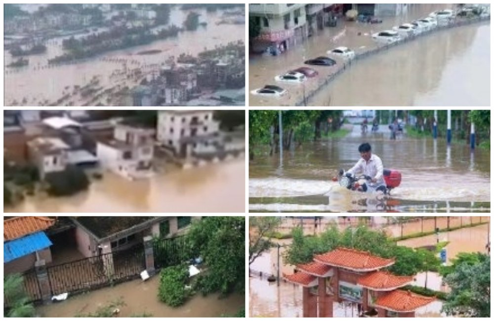 近日,南方11省份發生水災,超過260萬人次受災。(影片截圖)