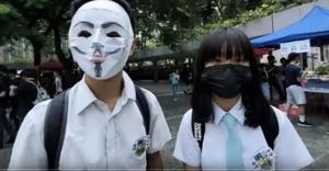 十一前 香港中學生遮打花園罷課集會表訴求