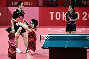 東奧7.26|中國乒乓球混雙失利 央視搶報奪金遭罵