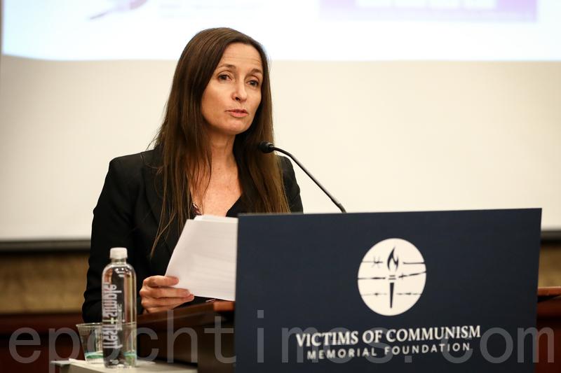終止中共移植濫用國際聯盟執行主任蘇西‧休斯(Susie Hughes)。(Samira Bouaou/大紀元)