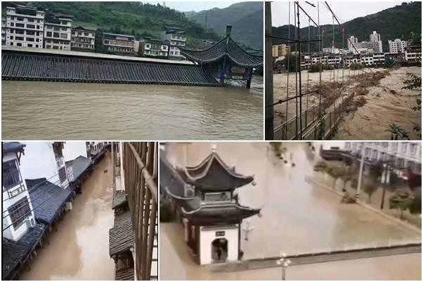 【一線採訪】甘肅文縣洪水淹四層樓 古鎮也被淹