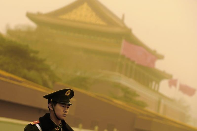 美近日6大動作指向中共,北京戰狼式四處出擊輸世界? 圖為資料圖。(LIU JIN/AFP)