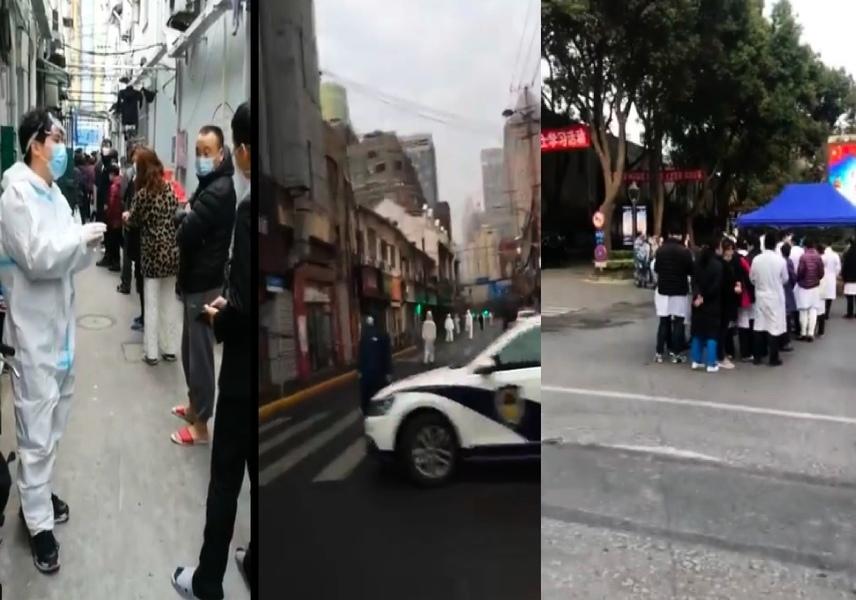 上海新增一中風險區 各大醫院全員核酸檢測