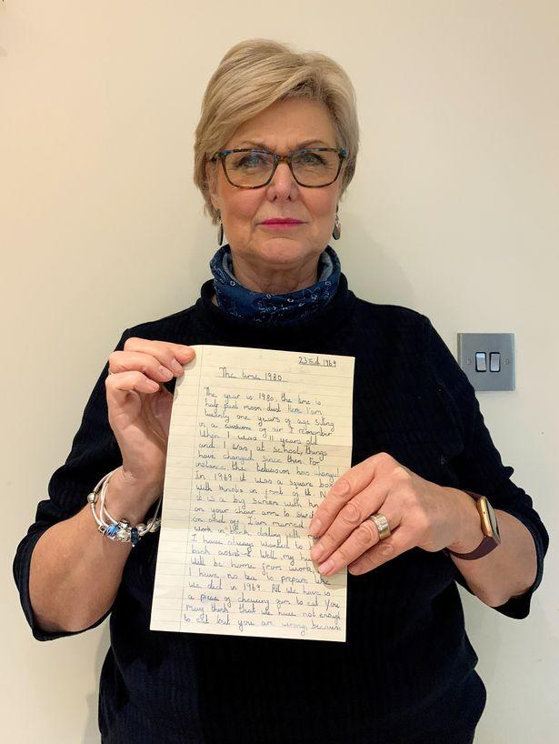 羅莎決定將這張便條公開分享出來,希望能找到這位現年62歲的不具名作者。(羅莎提供)