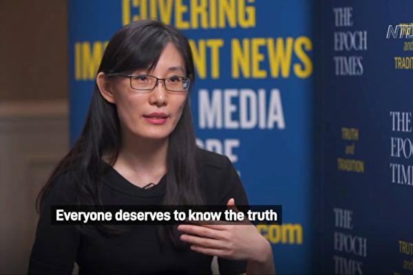 從香港出逃到美國的病毒專家閻麗夢博士。(英文大紀元)