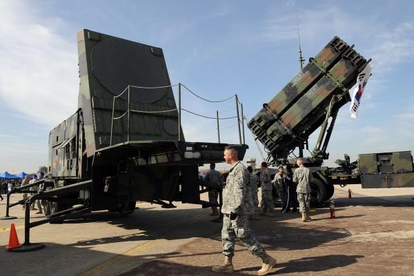 圖為2008年美國在南韓部署的愛國者導彈防禦系統。(AFP/Getty Images)