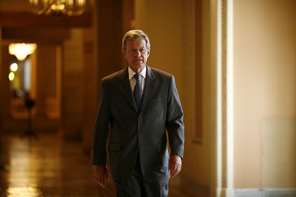 美國前駐華大使馬克斯·博卡斯(Max Baucus)表示,美中關係每況愈下。(Melissa Golden/Getty Images)