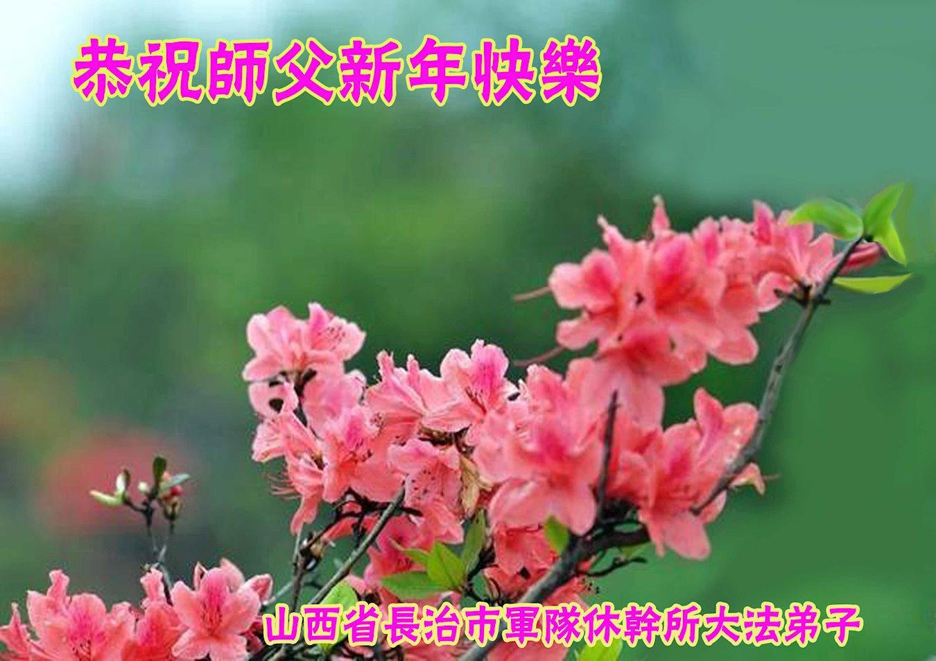 山西省長治市軍隊幹休所大法弟子恭賀李洪志大師新年快樂!(明慧網)