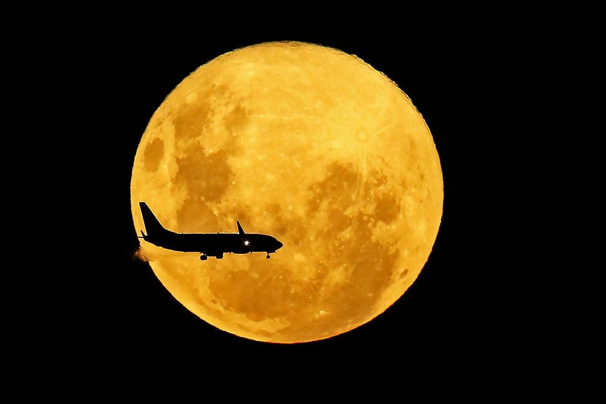 本周,「花月」(Flower Moon)登場,也是2020年最後一個超級月亮。圖為2020年3月9日的超級月亮。(Heuler ANDREY / AFP)