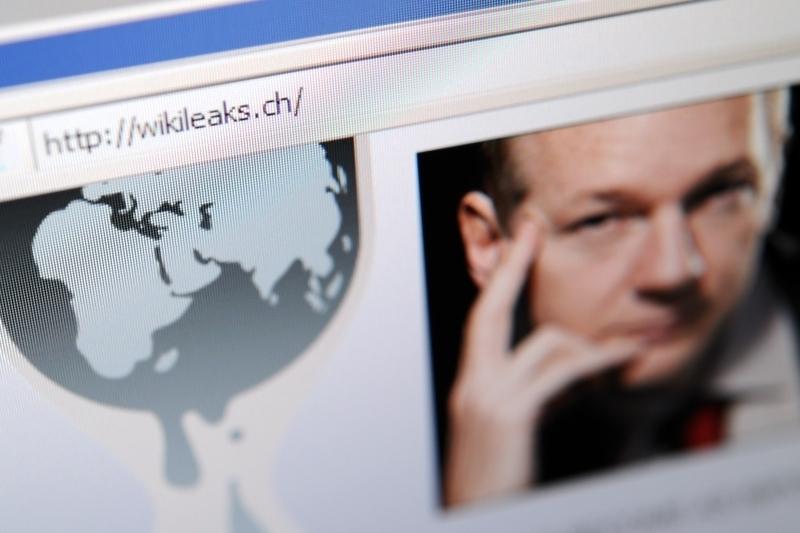 「維基解密」網站創辦人、阿桑奇(Julian Assange)自2019年4月一直被關押在英國倫敦的貝爾馬什(Belmarsh)監獄等待引渡判決。圖為「維基解密」的首頁。(FABRICE COFFRINI/AFP/Getty Images)