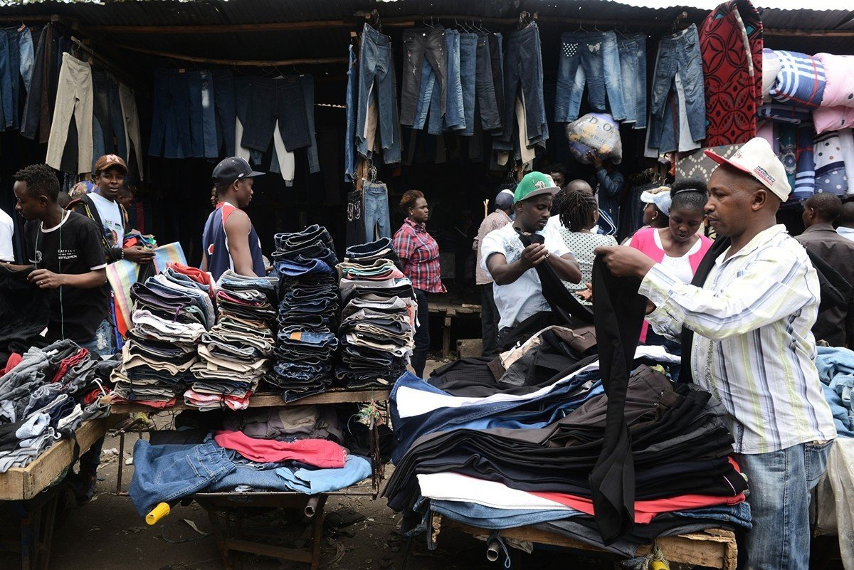 肯尼亞吉康巴市場是東非最大的二手服裝市場。(Getty Images)