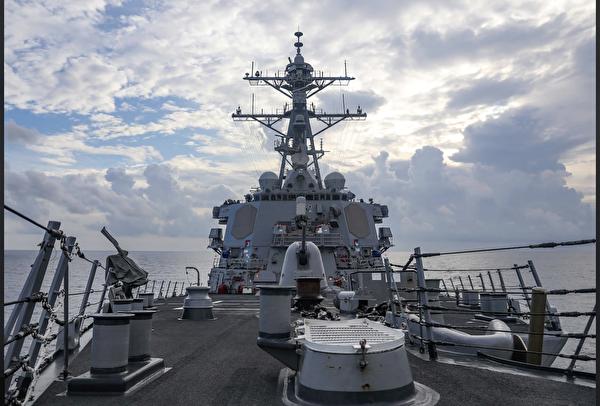 7月12日,美國「本福德號」在西沙群島進行自由航行後,發佈了三張照片。(美國海軍第七艦隊官網)