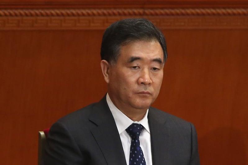9月20日,第12屆海峽論壇開幕時,一改過去慣例,中共全國政協主席汪洋未親自出席論壇,而是以影片方式致辭,被指出席人士首次「降級」。(Feng Li/Getty Images)