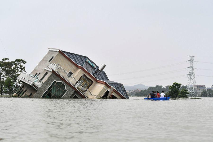 組圖:中國多省遭遇罕見大洪災