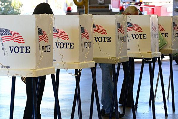 圖為美國大選某投票站。(Getty Images)