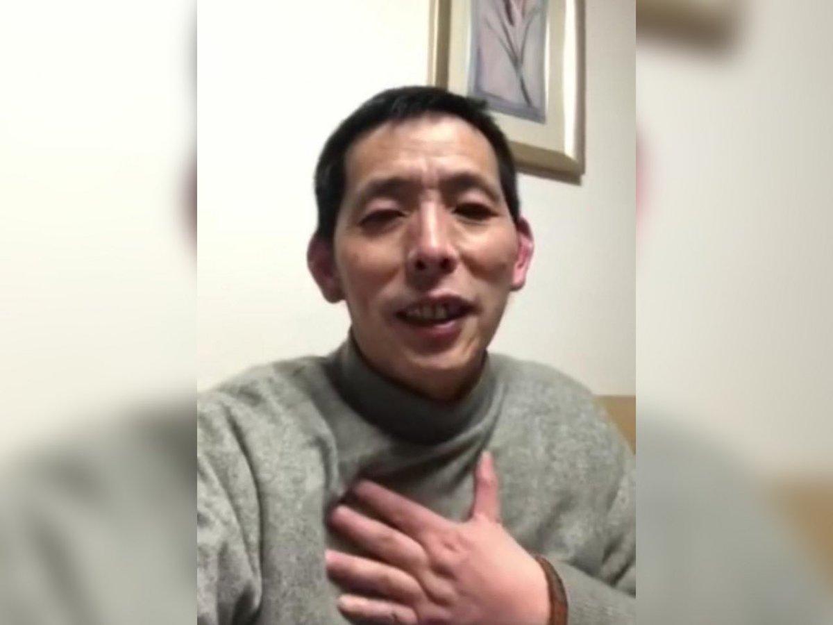 曾到武漢多家醫院拍攝實際情況的公民記者方斌自2020年2月10日被抓捕後,一直杳無音信。(截圖)