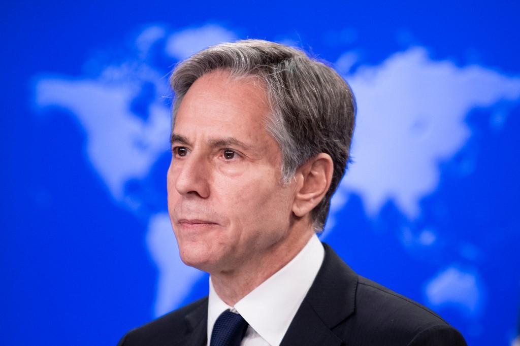 2021年8月6日,美國國務院發表聲明表示,國務卿安東尼·布林肯參加東盟區域論壇外長視像會議,對中共在南海的行為、中共擴充核武,以及中國人權等方面表示關注。布林肯資料照。(Brendan Smialowski/POOL/AFP)