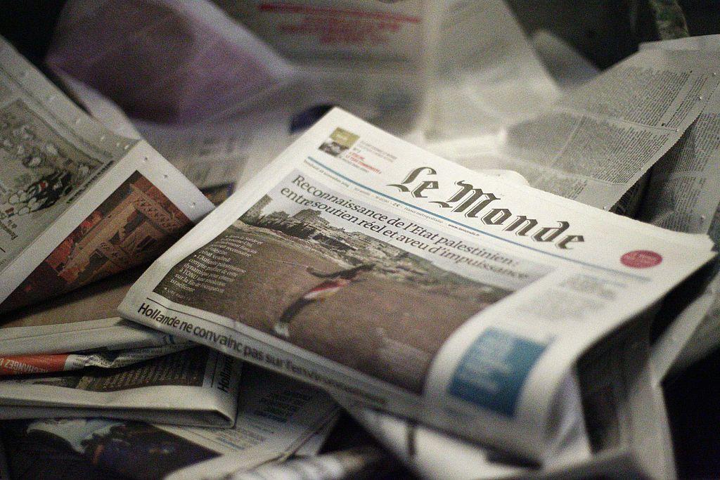 法國《世界報》(Le Monde)。(MATTHIEU ALEXANDRE/AFP via Getty Images)
