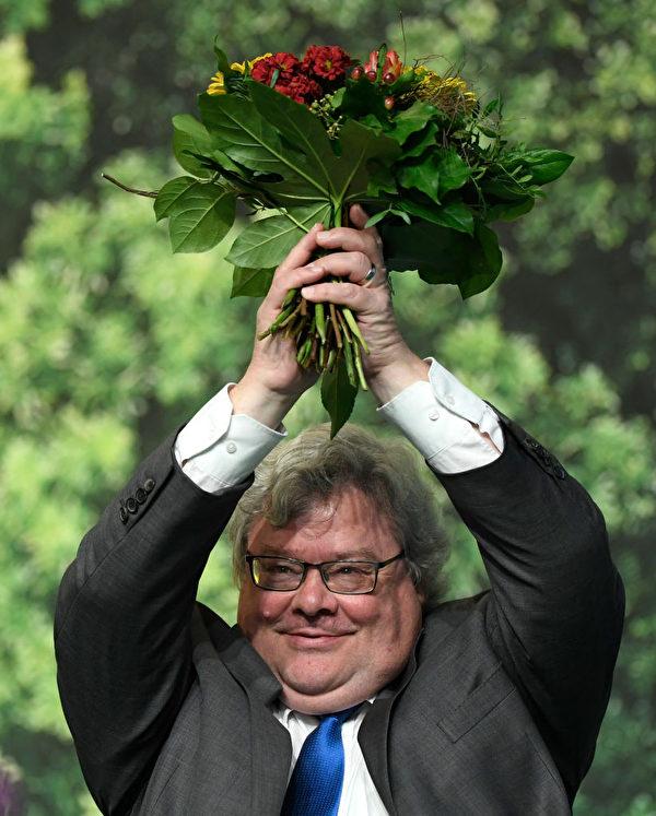 德國綠黨議員、歐洲議會對中關係代表團領導人包瑞翰資料照。(INA FASSBENDER/AFP via Getty Images)