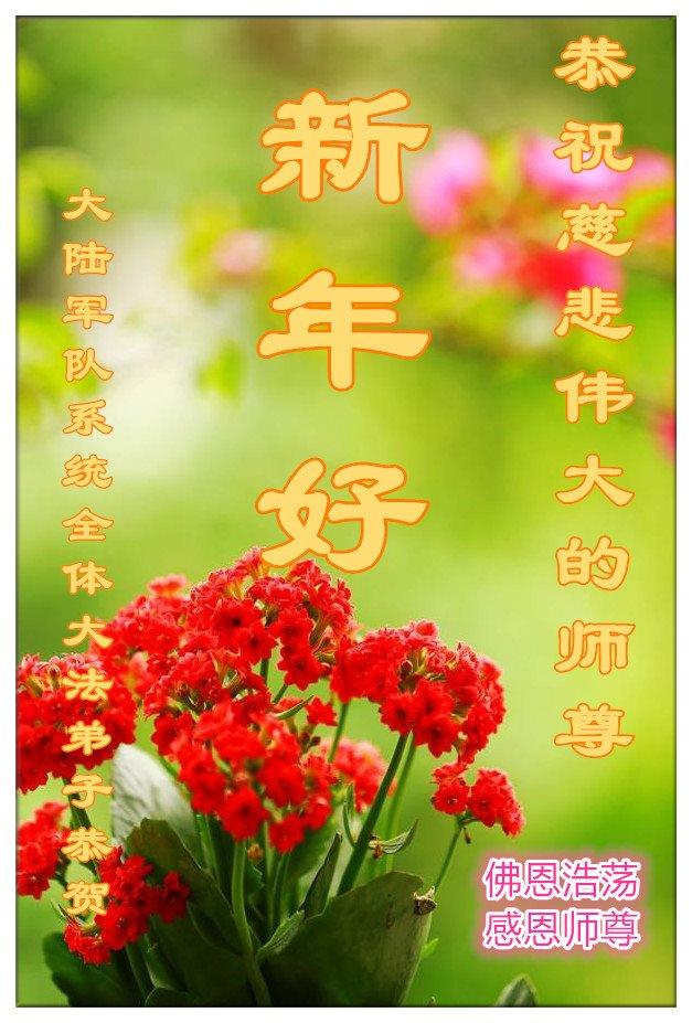 大陸軍隊系統全體大法弟子恭祝李洪志大師新年好!(明慧網)