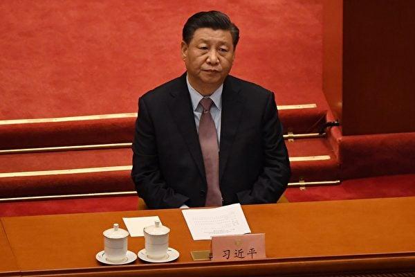 2021年3月4日,中共政協會議召開,習近平在開幕式上。(Leo Ramirez/AFP via Getty Images)