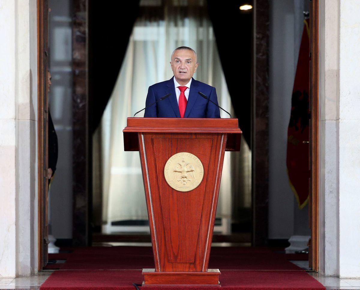 阿爾巴尼亞總統伊利爾·梅塔(Ilir Meta)。(GENT SHKULLAKU/AFP via Getty Images)
