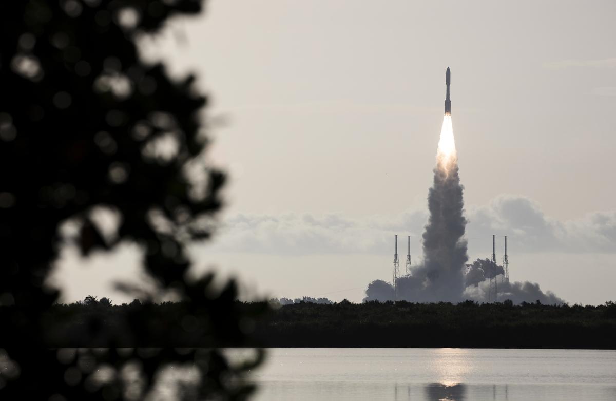 2020年7月30日,NASA火星2020毅力號探測車(Mars 2020 Perseverance Rover)從美國佛羅里達州卡納維拉爾角空軍基地41號發射場發射升空。(Joel KOWSKY/NASA/AFP)