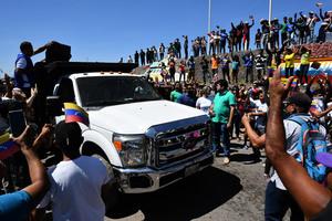 首批救援物資進委內瑞拉 瓜伊多:偉大成就