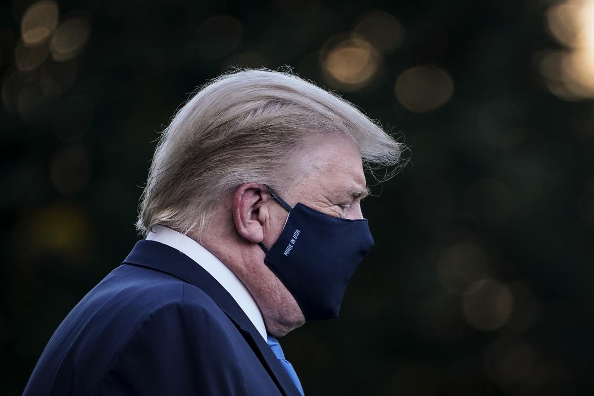 特朗普總統對抗邪惡勢力,正在遏制共產主義的滲透和顛覆。(Alex Wong/Getty Images)