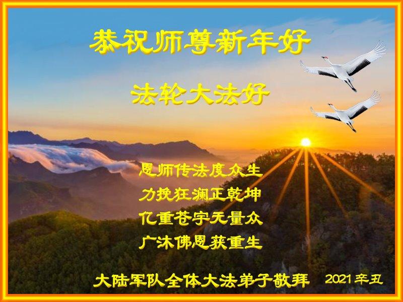 大陸軍隊大法弟子恭祝師尊新年好!(明慧網)