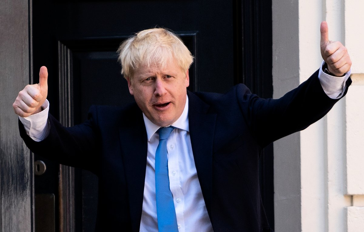 英國新首相約翰遜(Boris Johnson)對華為和香港問題持強硬立場。(Niklas HALLE'N/AFP)