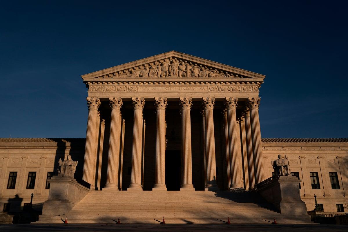位於華府的最高法院。(Stefani Reynolds/Getty Images)