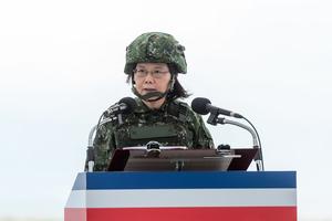 外媒指台灣最危險 蔡英文:有能力建安全屏障