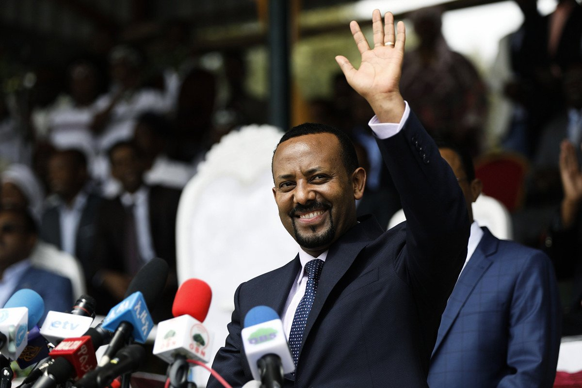 埃塞俄比亞總理阿比.艾哈邁德(Abiy Ahmed)獲得2019年諾貝爾和平獎。(Zacharias Abubeker/AFP)