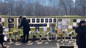 組圖:紐約大陸留學生悼李文亮 要言論自由