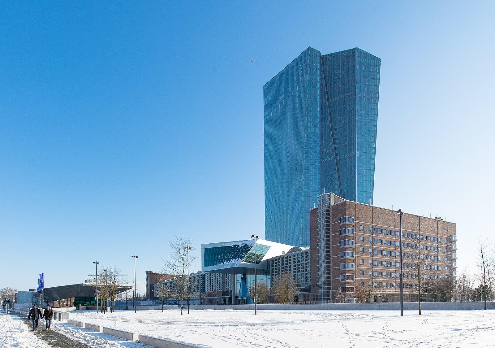 專家預計,歐洲央行將會在近日推出應對中共病毒的經濟刺激措施。圖為歐洲央行總部。(Epizentrum/Wikimedia commons)