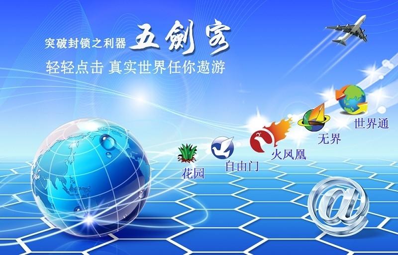 中共當局升級防火牆,收緊封堵海外互聯網。但「自由門」或「無界瀏覽」等破網軟件,正在中國大陸廣泛流傳,幫助民眾突破中共網絡封鎖。圖為法輪功學員研發的五大破網軟件,其中代表「自由門」軟件的圖標為一隻和平鴿。(大紀元圖片)