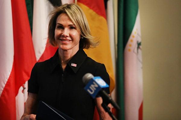 圖為美國駐聯合國大使凱利・克拉夫特(Kelly Craft)。(Spencer Platt/Getty Images)