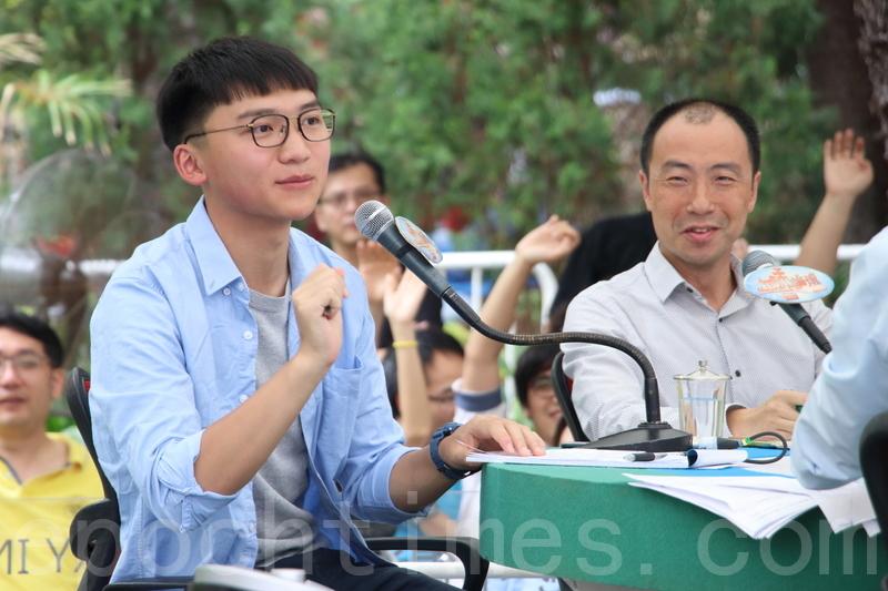 香港眾志副主席鄭家朗(左),資料圖。(蔡雯文/大紀元)