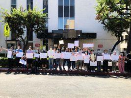 洛杉磯華裔無字白紙 對抗中共白色恐怖
