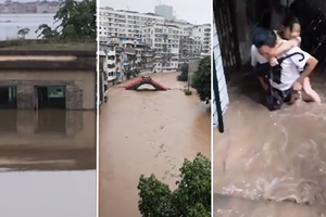 長江2號洪水來襲 官媒承認三峽大壩位移變形