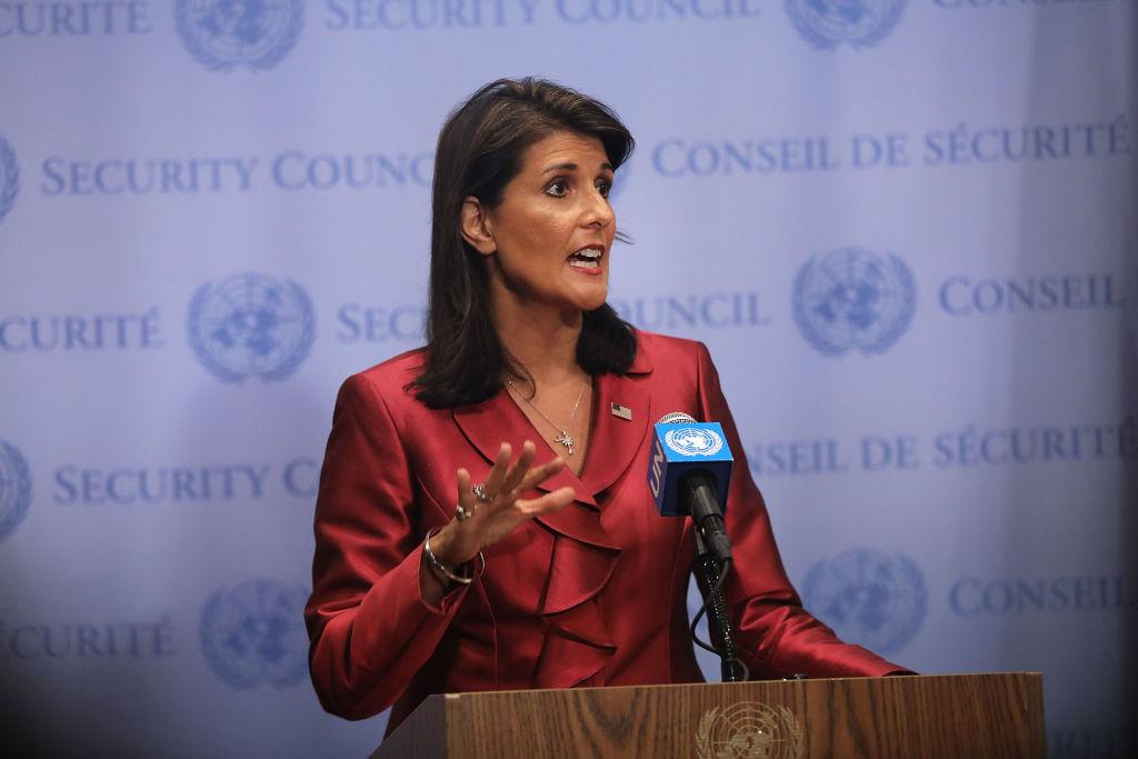香港局勢牽動世界,美國前駐聯合國大使黑利(Nikki Haley)8月28日在霍士新聞撰文,分析了香港的命運和美國息息相關。 (Spencer Platt/Getty Images)