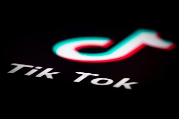 日本埼玉縣、大阪府、神戶市近日相繼宣佈已經停用北京字節跳動集團旗下的抖音海外版TikTok。圖為字節跳動集團旗下抖音海外版TikTok的Logo。(JOEL SAGET/AFP/Getty Images)