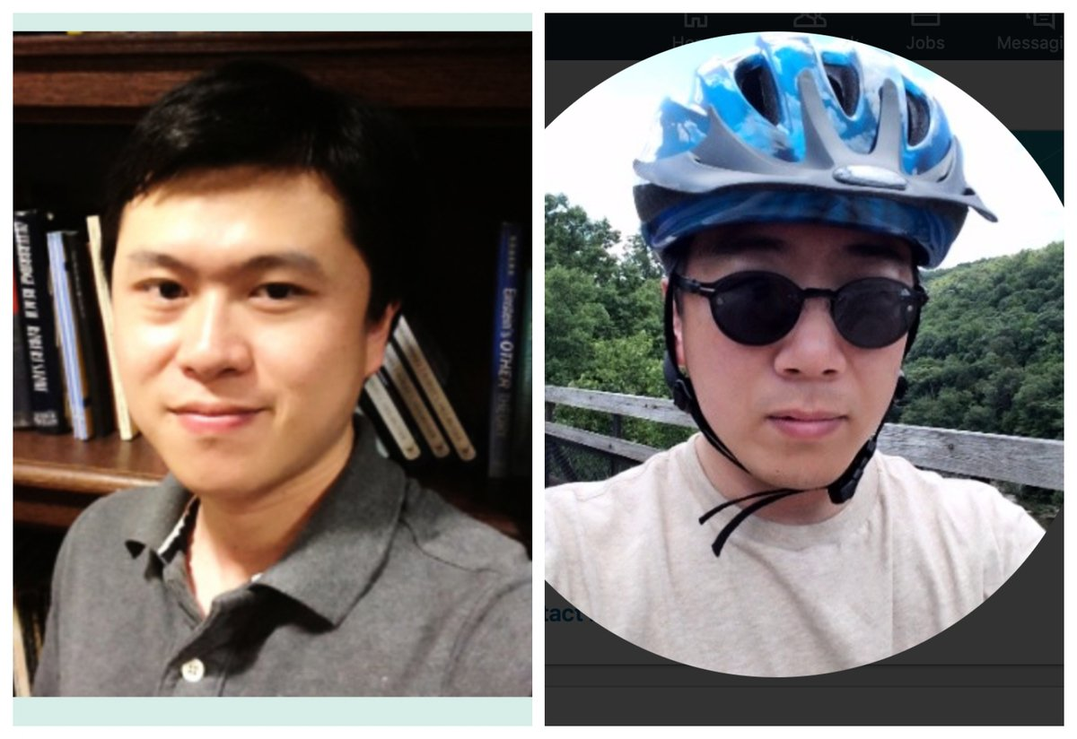 警方表示,匹茲堡大學遇害病毒學者劉兵(左)同兇嫌顧浩(右)因一名親密伴侶發生長期糾紛 。(網頁截圖合成)
