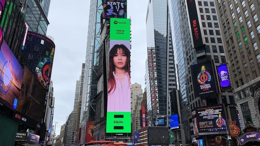 歌后蔡健雅、A-Lin 繼阿妹登上紐約時代廣場
